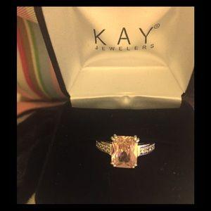 14k white gold 3.5 ct pink diamond
